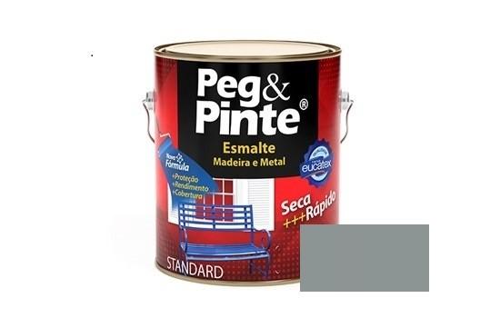 Esmalte Peg & Pinte Brilhante Cinza Médio 3,6 Litros Eucatex