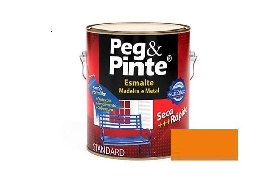 Esmalte Peg & Pinte Brilhante Laranja 3,6 Litros Eucatex