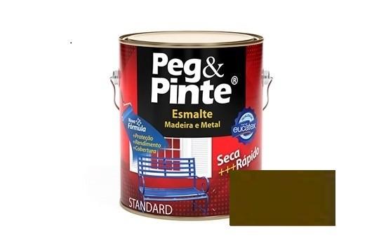 Esmalte Peg & Pinte Brilhante Marrom 900ml Eucatex