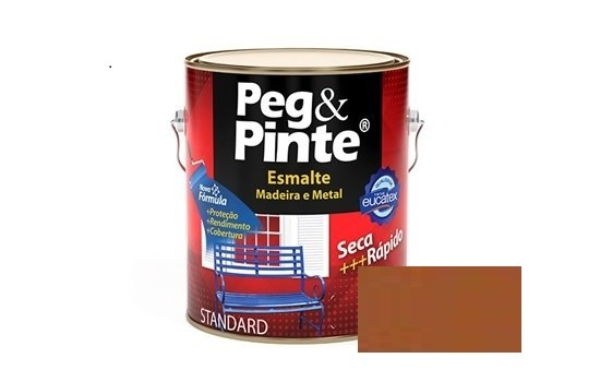 Esmalte Peg & Pinte Brilhante Marrom Conhaque 3,6 Litros Eucatex