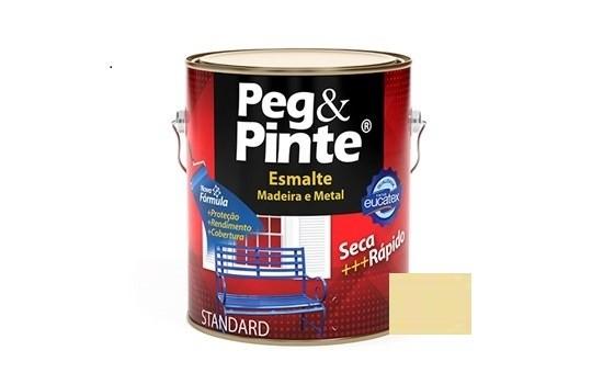 Esmalte Peg & Pinte Brilhante Marfim 3,6 Litros Eucatex