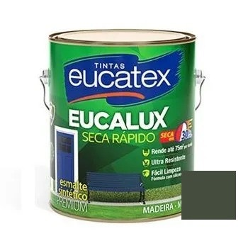 Esmalte Seca Rápido Fosco Premium Grafite 3,6 Litros Eucatex