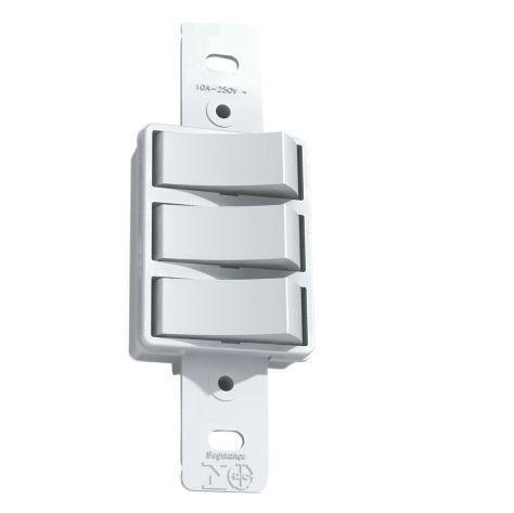 Interruptor Simples Com 3 Teclas 2019/0 Ilumi