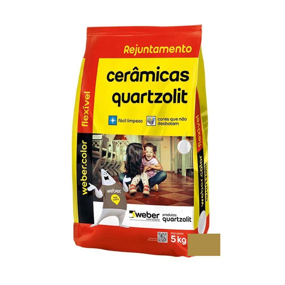 Rejunte Flexível 5Kg Caramelo Quartzolit