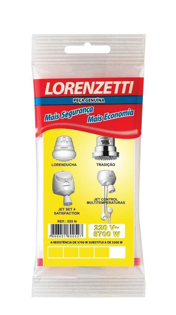 Resistência Para Ducha Lorenducha/ Tradição /  Jet Set 4 e Jet Control 5700W 220V 055-N Lorenzetti