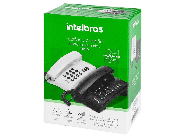 Telefone C/Fio S/Chave Preto Pleno Intelbras