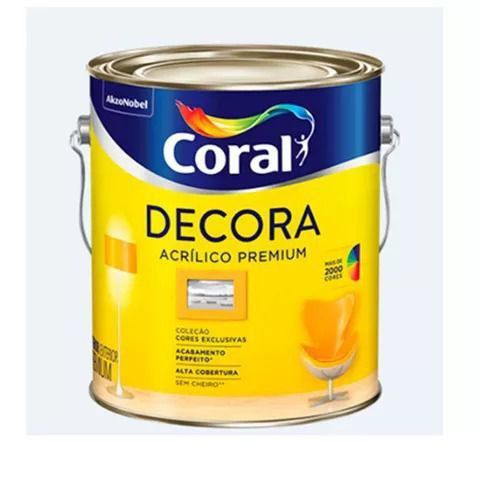Tinta Acrílico Fosco Premium Decora 3,6L Branca Coral