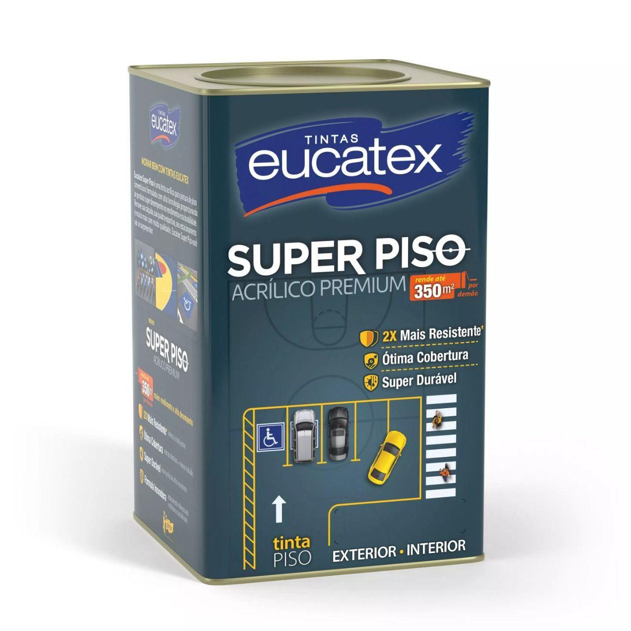Tinta Acrílico Super Piso Premium Branco 18 Litros Eucatex