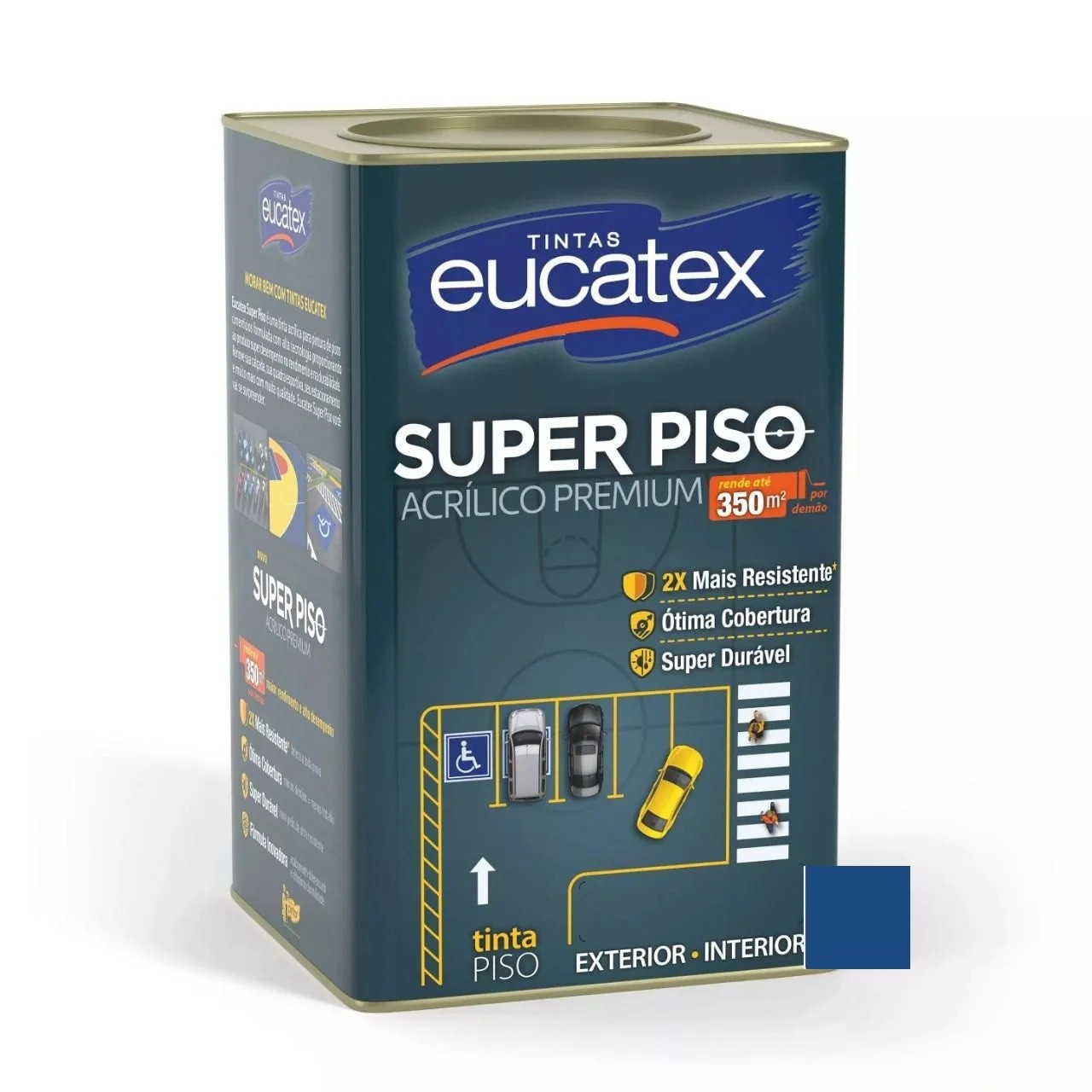 Tinta Super Piso Acrílico Premium Azul 18 Litros Eucatex