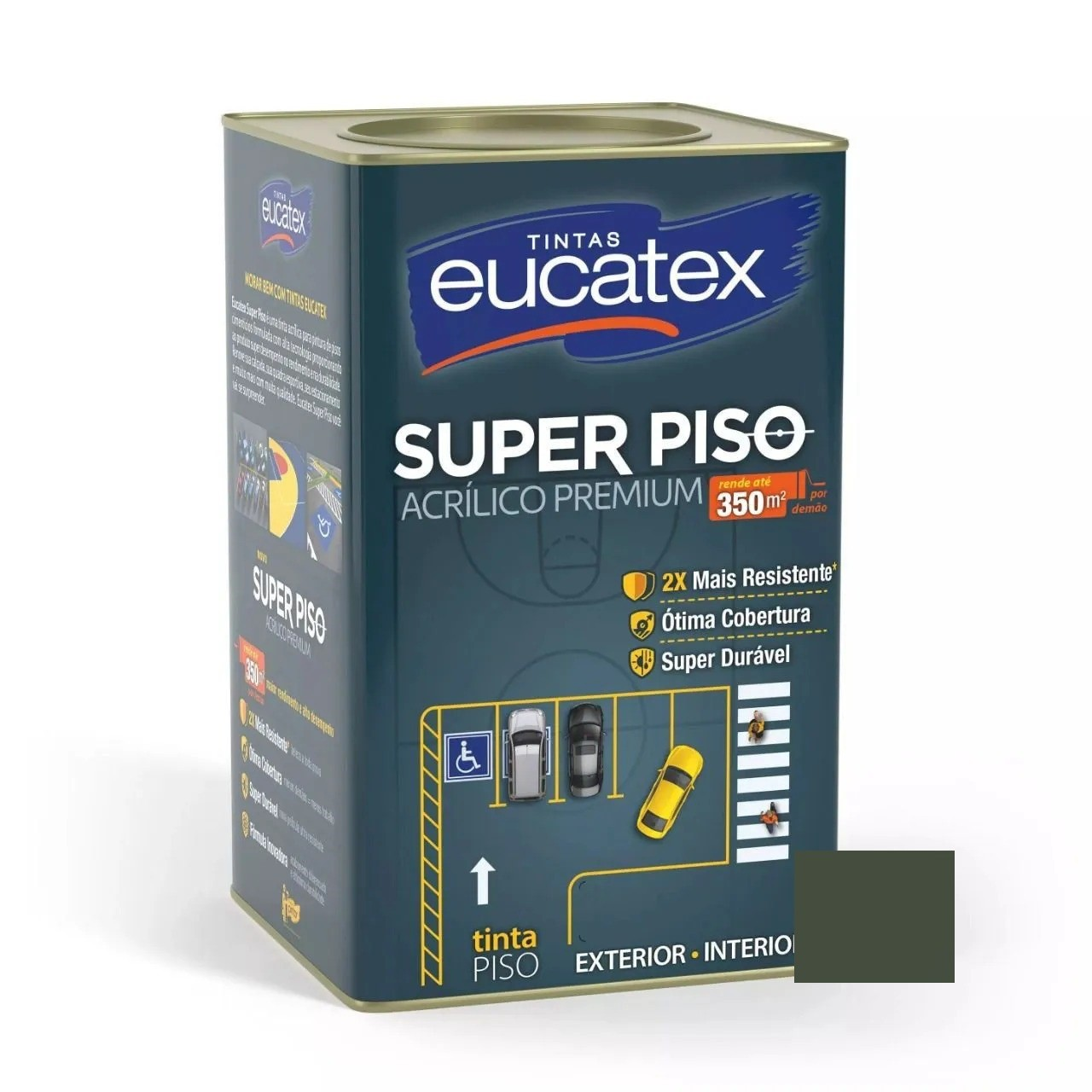 Tinta Super Piso Acrílico Premium Cinza Escuro 18 Litros Eucatex