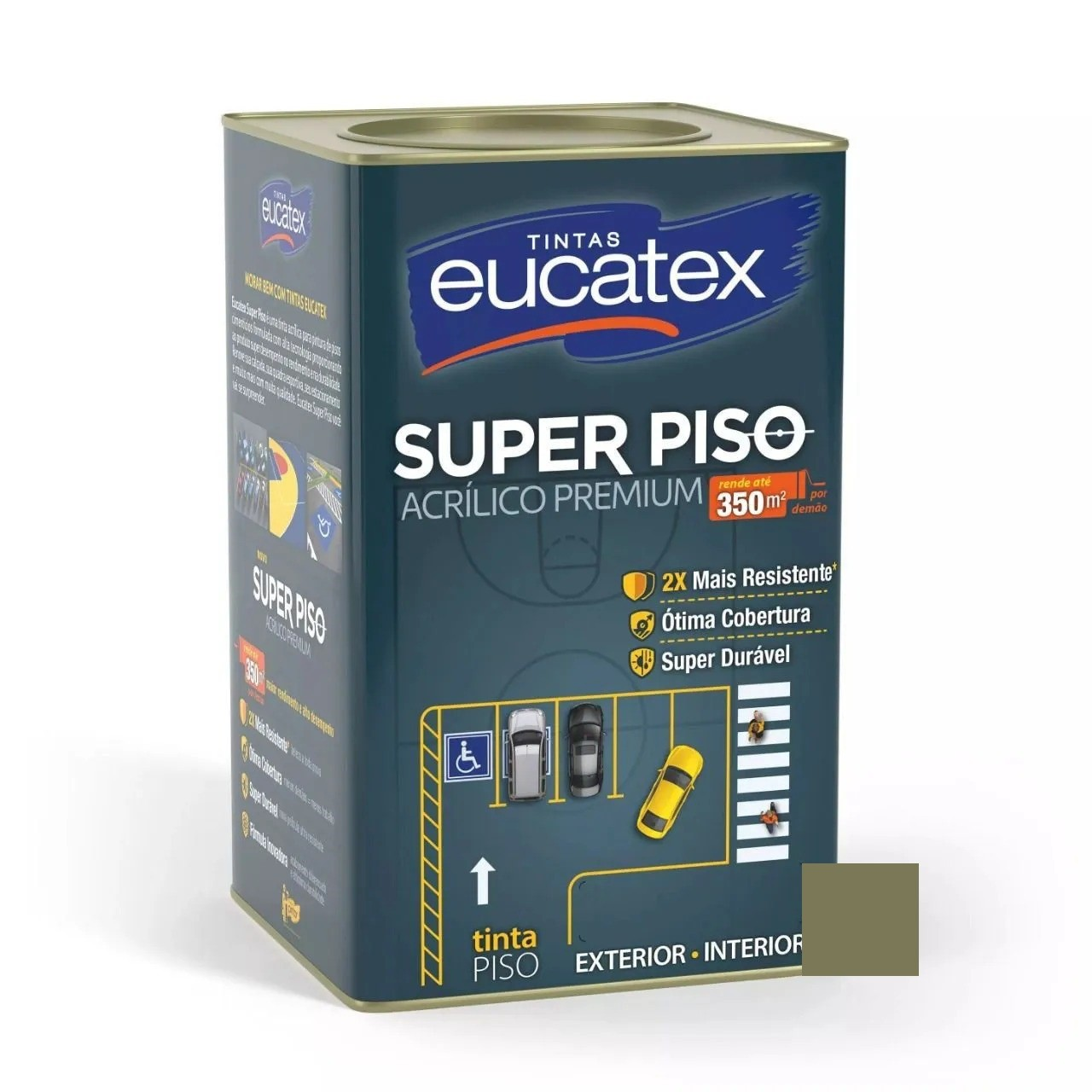 Tinta Super Piso Acrílico Premium Concreto 18 Litros Eucatex