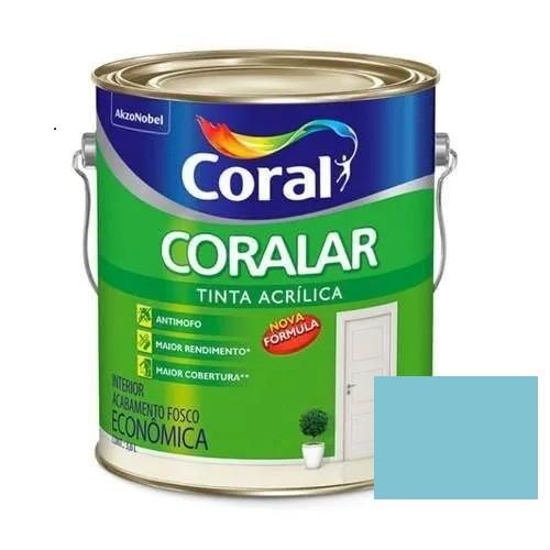 Tinta Coralar Acrílico Fosco Azul Arpoador 3,6 Litros Coral