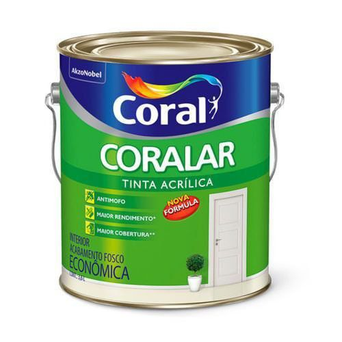 Tinta Coralar Acrílico Fosco Branco 3,6 Litros Coral