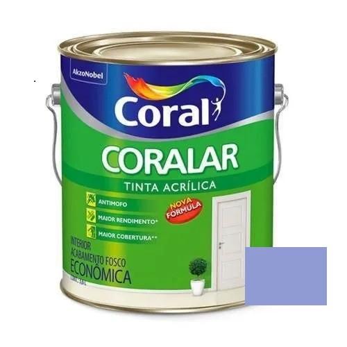 Tinta Coralar Acrílico Fosco Orquidea 3,6 Litros Coral