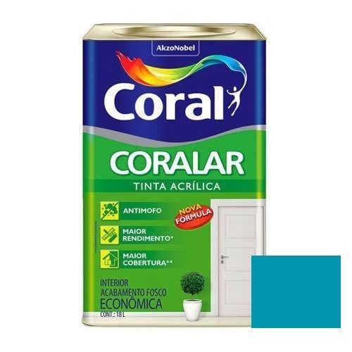 Tinta Coralar Acrílico Fosco Pavão 18 Litros Coral
