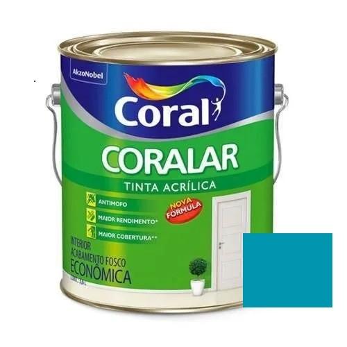Tinta Coralar Acrílico Fosco Pavão 3,6 Litros Coral