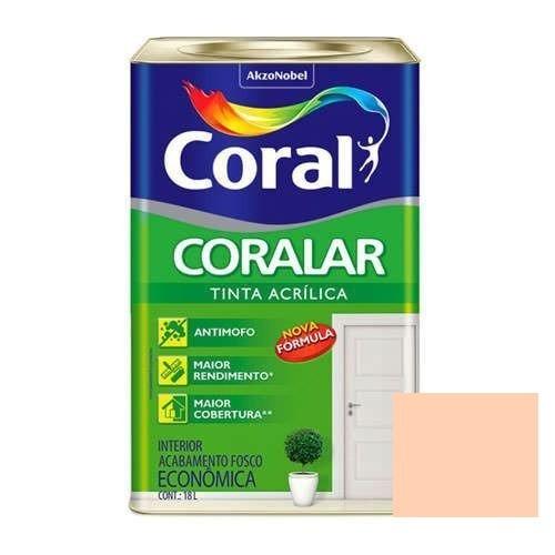 Tinta Coralar Acrílico Fosco Pêssego 18 Litros Coral