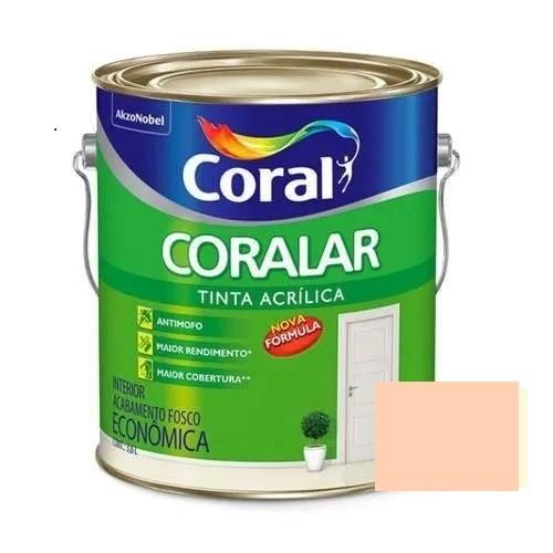 Tinta Coralar Acrílico Fosco Pêssego 3,6 Litros Coral