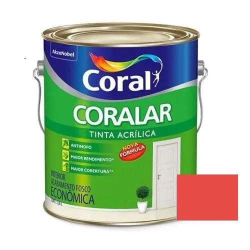 Tinta Coralar Acrílico Fosco Rubi 3,6 Litros Coral