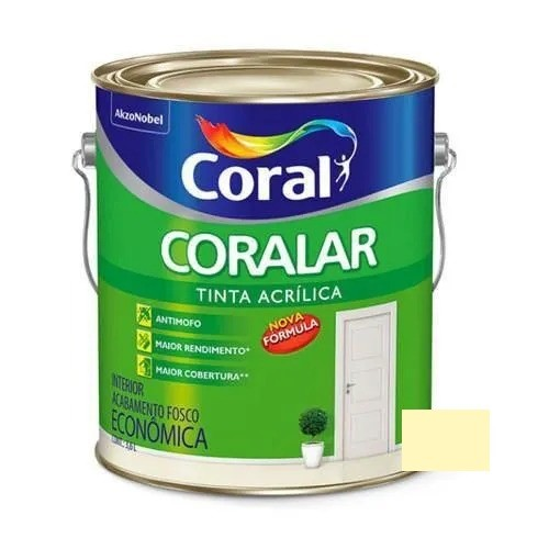 Tinta Coralar Acrílico Fosco Vanilla 3,6 Litros Coral