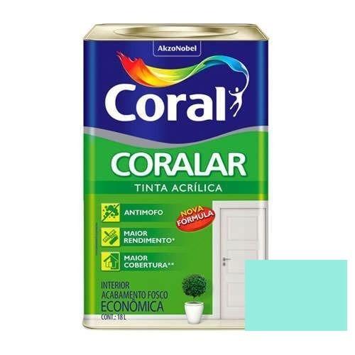Tinta Coralar Acrílico Fosco Verde Piscina 18 Litros Coral