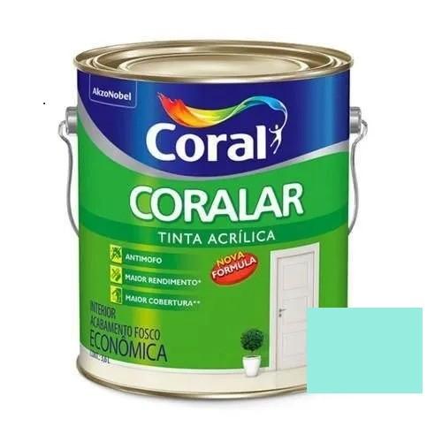 Tinta Coralar Acrílico Fosco Verde Piscina 3,6 Litros Coral
