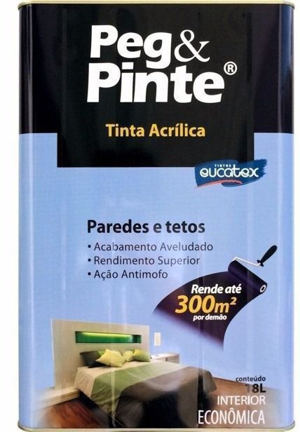 Tinta Peg&Pinte Acrilica Areia Pipa 18L Eucatex
