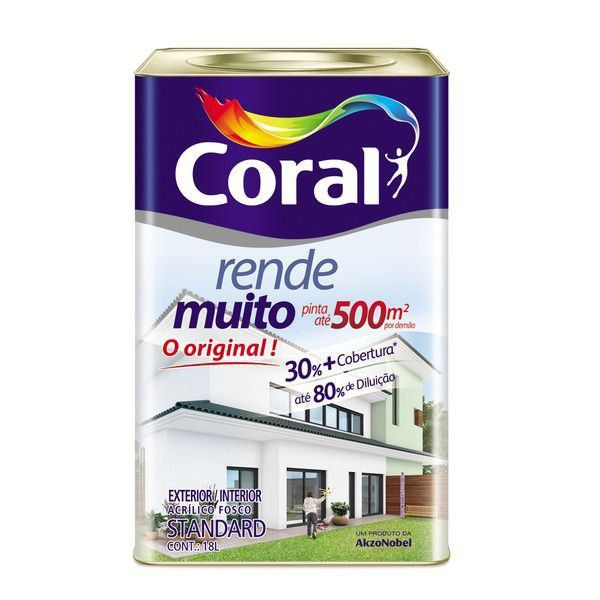 Tinta Rende Muito Acrilico Camurça 18Litros Coral