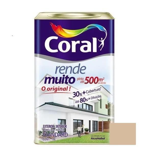Tinta Rende Muito Acrílico Fosco Camurça 18 Litros Coral