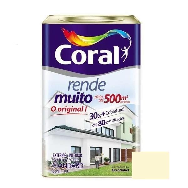 Tinta Rende Muito Acrílico Fosco Marfim 18 Litros Coral