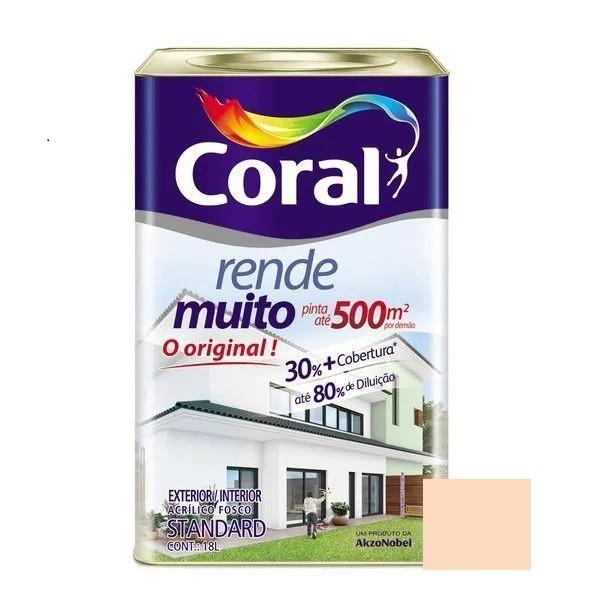 Tinta Rende Muito Acrílico Fosco Pêssego 18 Litros Coral