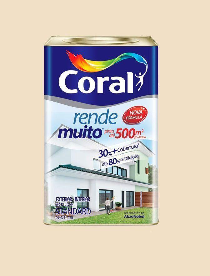 Tinta Rende Muito Acrilico Palha 18Litros Coral