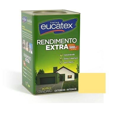 Tinta Rendimento Extra Acrílico Amarelo Canário 18 Litros Eucatex