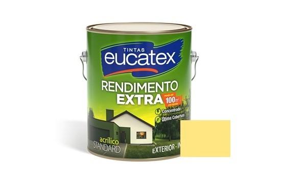 Tinta Rendimento Extra Acrílico Amarelo Canário 3,6 Litros Eucatex