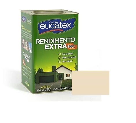 Tinta Rendimento Extra Acrílico Areia 18 Litros Eucatex