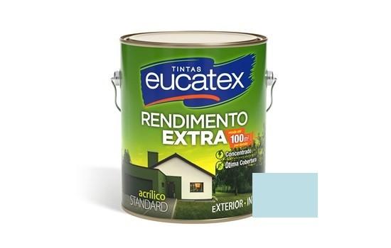 Tinta Rendimento Extra Acrílico Azul Praia 3,6 Litros Eucatex
