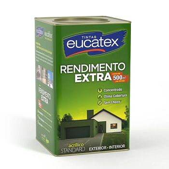 Tinta Rendimento Extra Acrílico Branco 18 Litros Eucatex