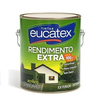Tinta Rendimento Extra Acrílico Branca 3,6 Litros Eucatex