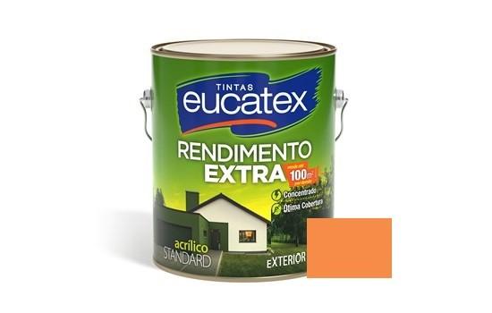 Tinta Rendimento Extra Acrílico Cenoura 3,6 Litros Eucatex