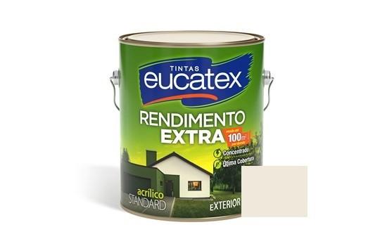 Tinta Rendimento Extra Acrílico Gelo 3,6 Litros Eucatex
