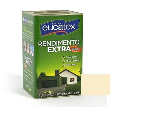 Tinta Rendimento Extra Acrílico Marfim 18 Litros Eucatex