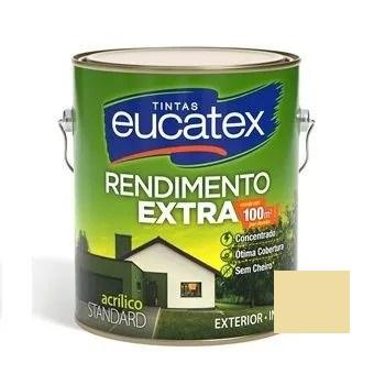 Tinta Rendimento Extra Acrílico Marfim 3,6 Litros Eucatex