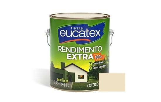 Tinta Rendimento Extra Acrílico Palha 3,6 Litros Eucatex