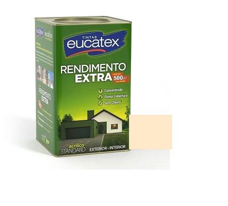 Tinta Rendimento Extra Acrílico Perola 18 Litros Eucatex