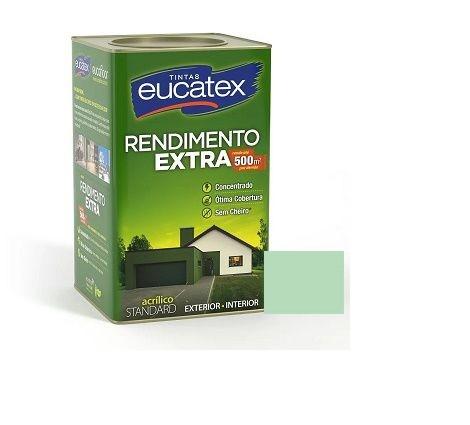 Tinta Rendimento Extra Acrílico Verde Piscina 18 Litros Eucatex