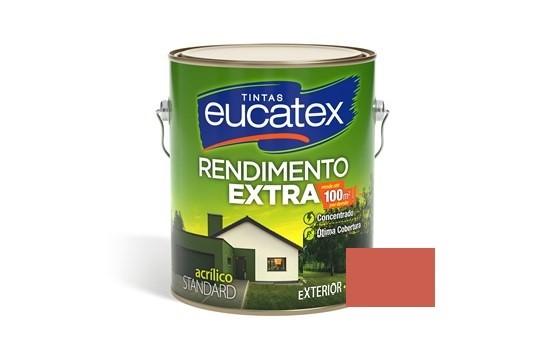 Tinta Rendimento Extra Acrílico Vermelho Cardinal 3,6 Litros Eucatex
