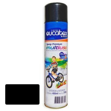 Tinta Spray Prata Metalico Eucatex