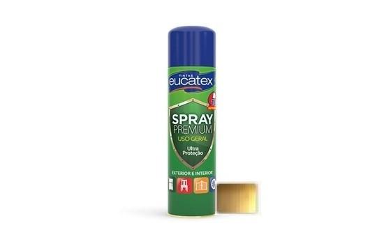 Tinta Spray Premium Metalizada Ouro 400ml Eucatex