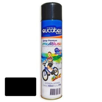 Tinta Spray Preto Fosco Eucatex