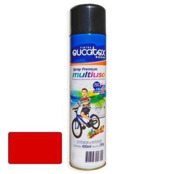 Tinta Spray Vermelho Brilhante Eucatex